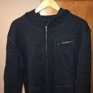 Lulu heavier wool performance jacket, navy blue